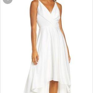 Chi Chi London White Katherine Surplice Dress